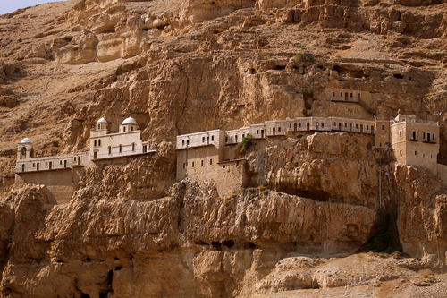 Palestine: Monastery on the Mount of Temptation in Jericho